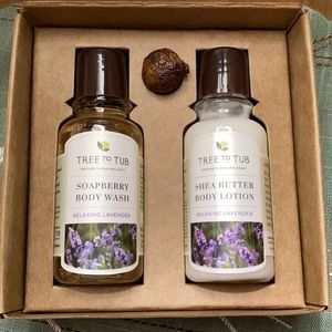 Lavender body wash and lotion travel size